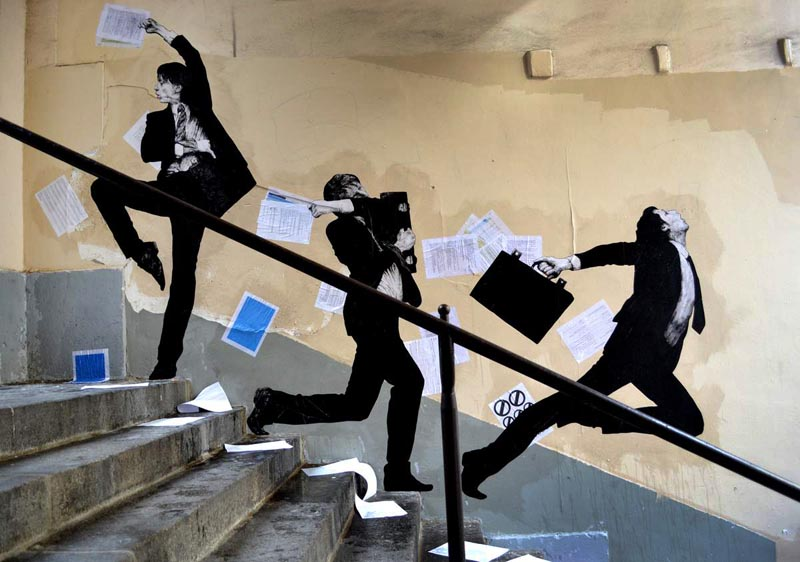 Levalet Street art Paris